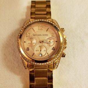 Michael Kors Women's Ritz rose gold watch